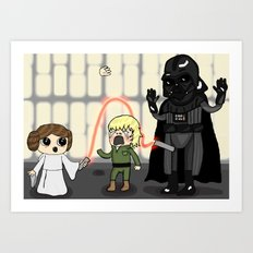 The force is wrong with this one Art Print