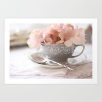 Little Gray Teacup Art Print