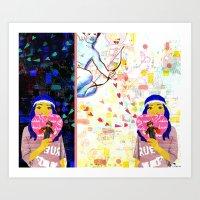 Cupid Waiting List Art Print