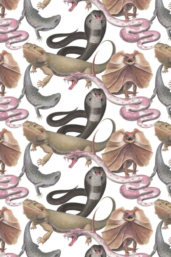 The Reptile Party Art Print