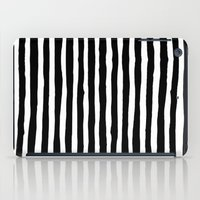 Black and White Vertical Stripes iPad Case