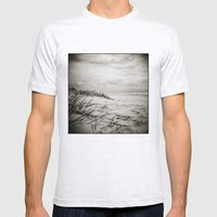 { sand, surf, sun } Mens Fitted Tee Ash Grey SMALL