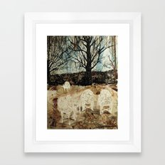 the waiting place Framed Art Print