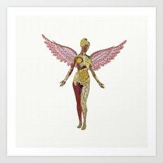 Nirvana - In Utero Art Print