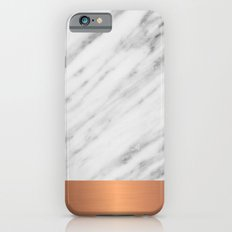 Carrara Italian Marble Holiday Rose Gold Edition Slim Case iPhone 6s