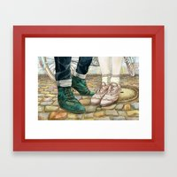 Brogues For A Date Framed Art Print