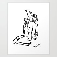 Alien Cat Art Print