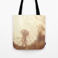 Dandelion Sunset Tote Bag