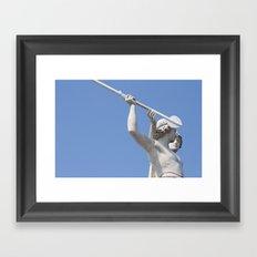 Halted Spear Framed Art Print