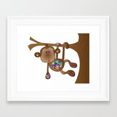 Monkey of the Day Framed Art Print