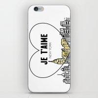 Je T'aime New York iPhone & iPod Skin