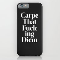 black iPhone & iPod Cases featuring Carpe by WRDBNR