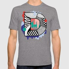 D for …. Mens Fitted Tee Tri-Grey SMALL