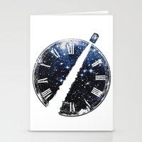 Journey through space and time Stationery Cards
