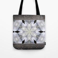 White Arctic Queen Kaleidoscope Tote Bag