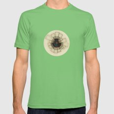 Circles/Lines Mens Fitted Tee Grass SMALL