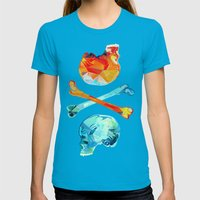 Fire & Ice Womens Fitted Tee Teal SMALL