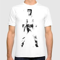 FPJ black and white Mens Fitted Tee White SMALL