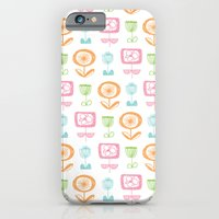iPhone & iPod Case featuring retro flowers by Melanie Cardenas