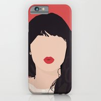 iPhone & iPod Case featuring Zooey Deschanel Portrait by RoarsAdams