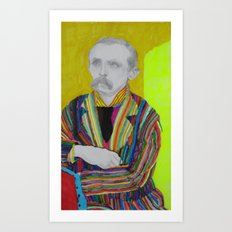 portrait of J. M. Barrie Art Print