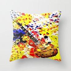 Retro Les Paul guitar Throw Pillow