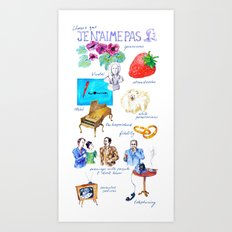 Barthes – I don't like Art Print