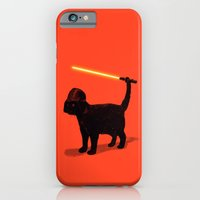 iPhone Cases featuring Cat Vader by nicebleed