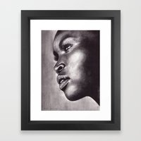 Light In Her Eyes  Framed Art Print