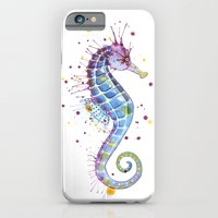 iPhone & iPod Case featuring Seahorse: Purple by Sam Nagel