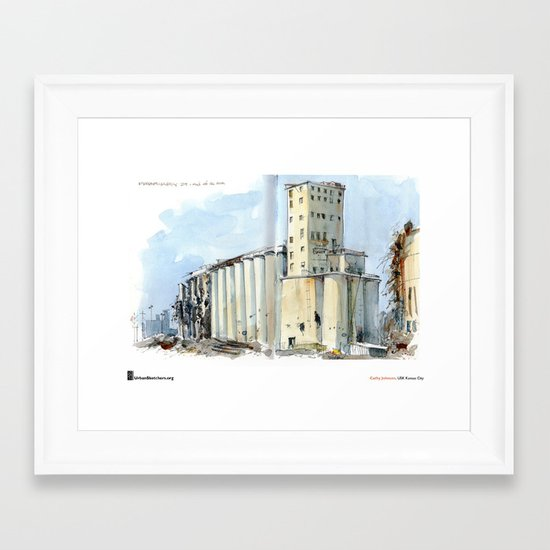 "Cathy Johnson, ""Grain Elevators"" Framed Art Print"