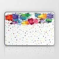 Rainbow raindrops Laptop & iPad Skin