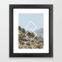 Simple Geometry Framed Art Print