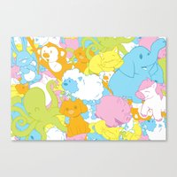 Animal March! Canvas Print