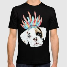 Puppy Mens Fitted Tee Black SMALL