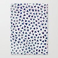 Confetti Triangles Canvas Print
