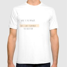 question? White Mens Fitted Tee SMALL