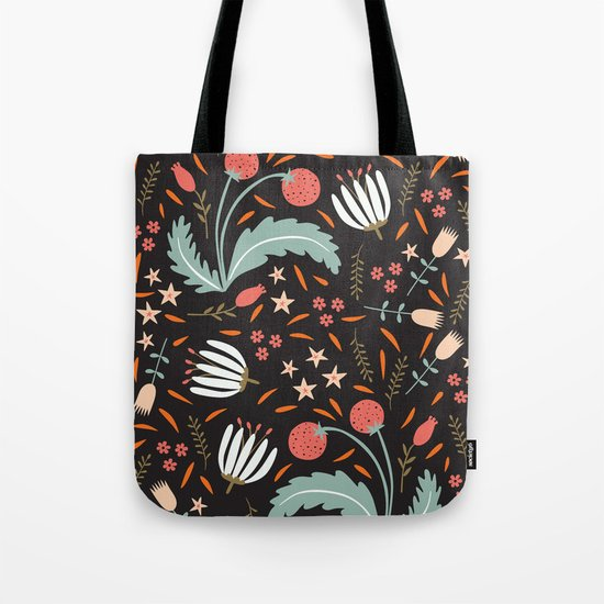 Floral Fusion Tote Bag