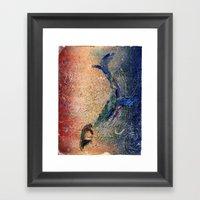 Humpback Whale and Calf Framed Art Print