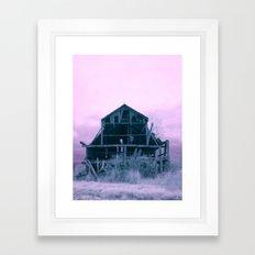 Infrared Barn Framed Art Print