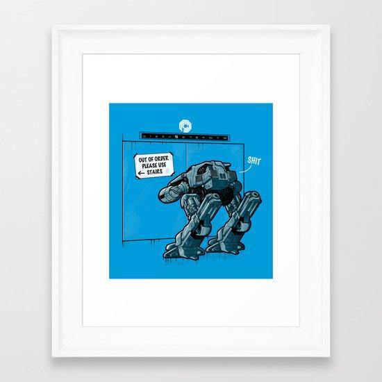 NOW WHAT? Framed Art Print