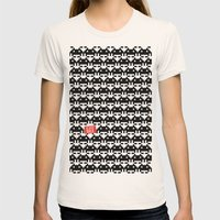 Be Right Back Womens Fitted Tee Natural SMALL
