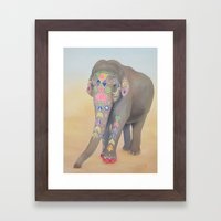 Painted Lady, Sujatha Framed Art Print