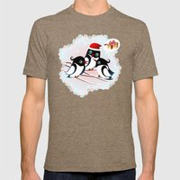 Winter Birds Christmas W… Mens Fitted Tee Tri-Coffee SMALL