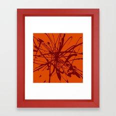 Bloom Red Framed Art Print