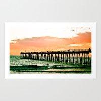 Hermosa Pier (1) Art Print