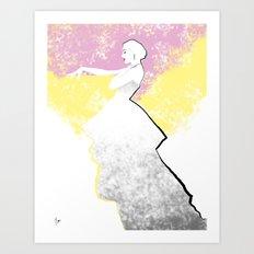 'Strawberry Lemonade' Fashion Illustration Art Print