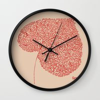 Autumn Leaf Wall Clock