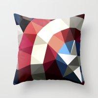 Polygon Heroes - Captain… Throw Pillow