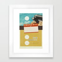 YOUR NAME HERE | Collage Framed Art Print